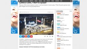 Basında Çamlıca Cami - Önce Vatan