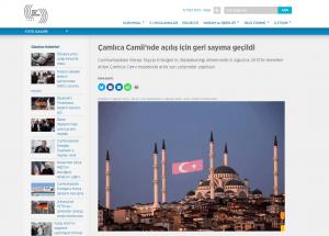 Basında Çamlıca Camii - Basın İlan Kurumu