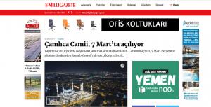 Basında Çamlıca Camii - Milli Gazete
