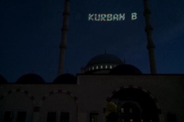 Led Mahya Kuba Camii İstanbul